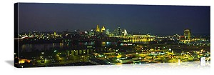 Cincinnati, Ohio Night Skyline Panorama Picture