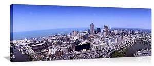 Cleveland, Ohio Aerial Skyline Panorama Picture