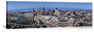 Cleveland, Ohio Downtown Skyline Panorama Picture