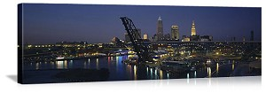 Cleveland, Ohio Riverfront Skyline Panorama Picture