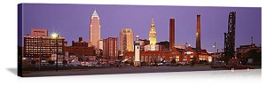 Cleveland, Ohio Skyline Panorama Picture