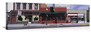 Salida, Colorado Stores on Main Street Panorama Picture