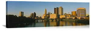 Columbus, Ohio Scioto Riverfront Panorama Picture