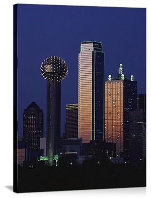 Dallas, Texas Reunion Tower Panorama Picture