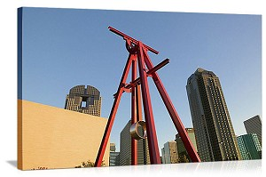 Dallas, Texas Sculpture Skyline Panorama Picture