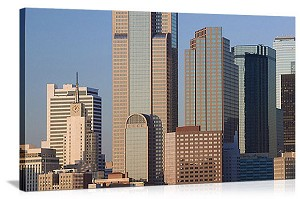 Dallas, Texas Downtown at Dawn Panorama Picture