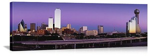 Dallas, Texas City Buildings Panorama Picture