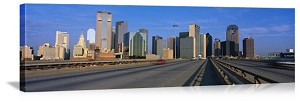 Dallas, Texas Downtown Freeway Panorama Picture