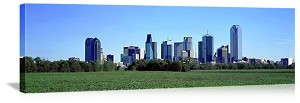 Dallas, Texas Greenbelt Skyline Panorama Picture