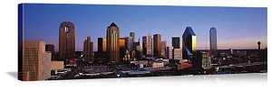 Dallas, Texas Sunrise Skyline Panorama Picture