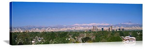 Denver, Colorado Skyline Panorama Picture