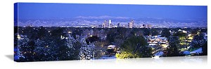 Denver, Colorado Rocky Mountain Skyline Panorama Picture
