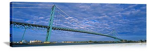 Detroit, Michigan Ambassador Bridge Panorama Picture