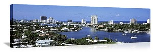 Fort Lauderdale, Florida Waterfront Panorama Picture
