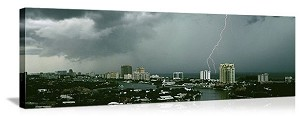 Fort Lauderdale, Florida Storm Over the City Panorama Picture