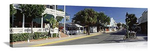 Key West, Florida Duval Street Panorama Picture