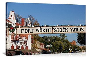Fort Worth, Texas Fort Worth Stockyards Panorama Picture