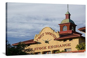 Fort Worth, Texas Livestock Exchange Panorama Picture