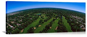 Aerial View Of Golf Course Picture