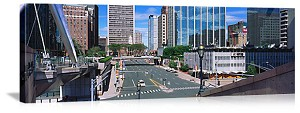 Hartford, Connecticut City Streetscape Panorama Picture