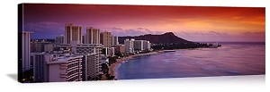 Honolulu, Hawaii Honolulu Sunset Panorama Picture