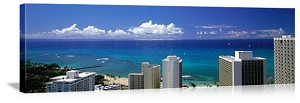 Honolulu, Hawaii Oceanfront Panorama Picture