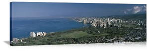 Honolulu, Hawaii View from Diamond Head Panorama Picture