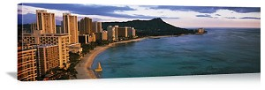 Honolulu, Hawaii Waikiki Beach Panorama Picture