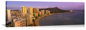 Honolulu, Hawaii Waikiki Beach Skyline Panorama Picture