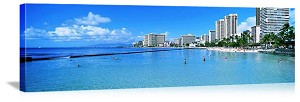 Honolulu, Hawaii Waikiki Beachfront Panorama Picture