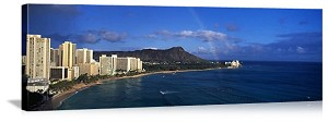 Honolulu, Hawaii Waikiki Skyline Panorama Picture