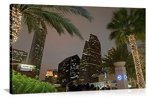 Houston, Texas Wortham Theater Center District Panorama Picture