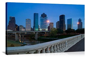 Houston, Texas Bagby Waterfront Park Panorama Picture