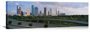 Houston, Texas City Skyscrapers Panorama Picture