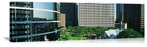 Houston, Texas Downtown Architecture Panorama Picture