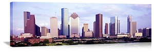 Houston, Texas Downtown Skyline Panorama Picture