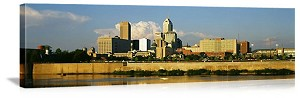 Indianapolis, Indiana Riverfront Skyline Panorama Picture