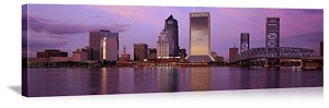 Jacksonville, Florida Skyline at Dusk Panorama Picture