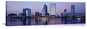 Jacksonville, Florida St. Johns River Skyline Panorama Picture