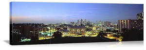 Kansas City, Missouri City at Dusk Panorama Picture