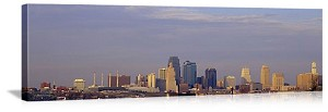 Kansas City, Missouri City Skyscrapers Panorama Picture