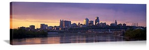 Kansas City, Missouri Dawn Skyline Panorama Picture