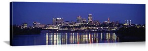 Kansas City, Missouri Evening Skyline Panorama Picture