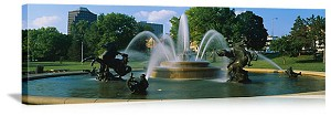 Kansas City, Missouri J C Nichols Memorial Fountain Panorama Picture