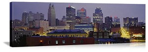 Kansas City, Missouri Skyline at Dusk Panorama Picture