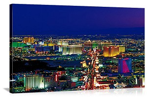 Las Vegas, Nevada Neon Skyline Panorama Picture