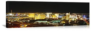 Las Vegas, Nevada A Night In Vegas Panorama Picture