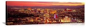 Las Vegas, Nevada Aerial Skyline View Panorama Picture