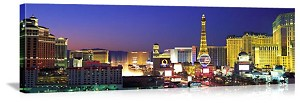 Las Vegas, Nevada  Dusk on The Strip Panorama Picture