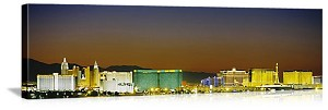 Las Vegas, Nevada  The Lights of Las Vegas Panorama Picture